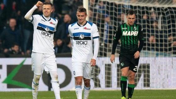 Sassuolo-Atalanta 2-6: tripletta di Ilicic e gol di Zapata, Gomez e Mancini