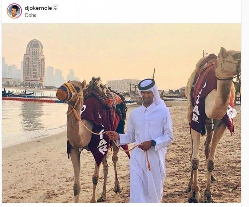 Tennis, Djokovic e gli altri nel deserto in versione Lawrence d'Arabia