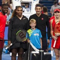Dal match al selfie: fotostoria di Serena Williams-Federer