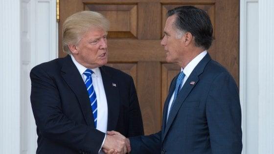 Usa, Romney contro Trump: