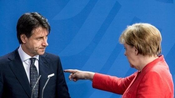 """Governo-Ue, Conte ammette: """"Sì, è vero, diedi una delega di voto a Merkel. Di lei ci si può fidare"""""""