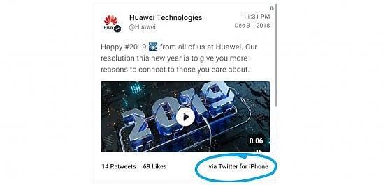 Twittano gli auguri da un iPhone, Huawei multa due dipendenti