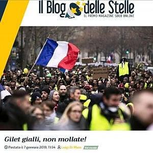 """Di Maio, elogio dei gilet gialli. """"Vi offriamo Rousseau"""". Parigi: """"Salvini e i 5Stelle facciano pulizia a casa loro"""""""