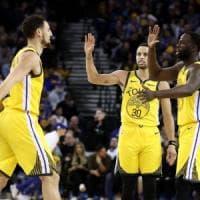Basket, Nba: Thompson trascina Golden State, Clippers avanti con super Gallinari