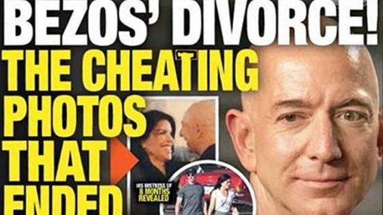 """""""Bezos ha una relazione da otto mesi: ecco le foto"""". La rivelazione del tabloid americano"""
