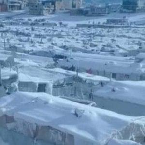 """Libano, 11.000 rifugiati siriani pesantemente colpiti dalla tempesta """"Norma"""""""