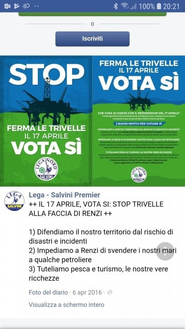 Trivelle, quando Matteo Salvini era per lo stop