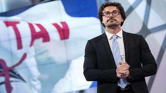 """Tav, Toninelli: """"L'opera va ridiscussa"""". Conte: """"La Lega in piazza? Nessun problema""""."""