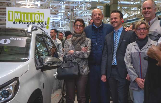 Un milione di 2008, Peugeot festeggia a Mulhouse