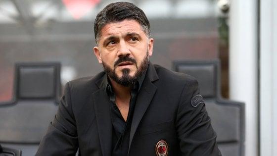 """Milan, Gattuso: """"Higuain? Gioca, fin quando è con noi..."""""""