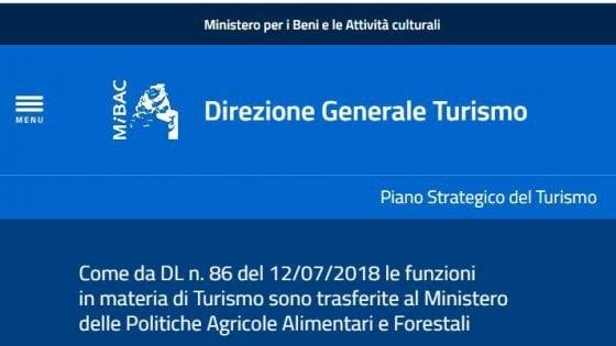 Ministeri, il Consiglio Stato boccia l'accorpamento del Turismo all'Agricoltura