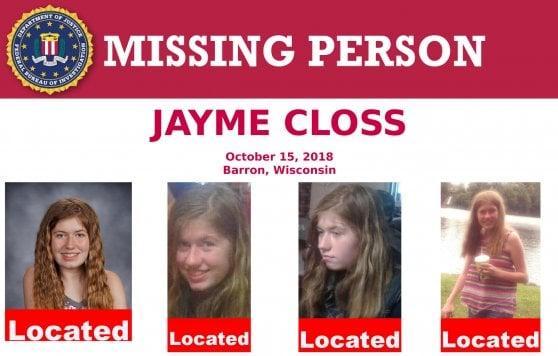 13enne del Wisconsin ritrovata a 3 mesi da omicidio dei genitori