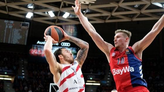 Basket, Eurolega: Milano sconfitta a Monaco dal Bayern 93-87