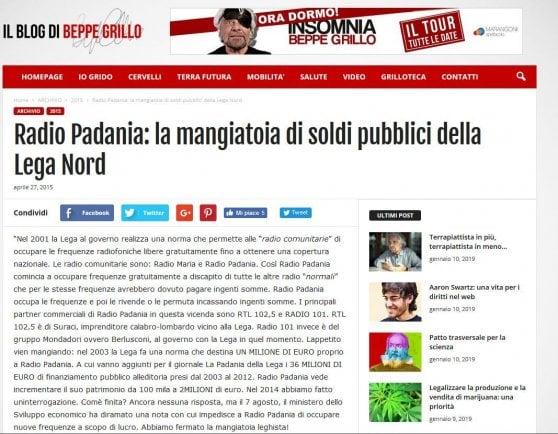 """Aiuti pubblici a Radio Padania, il Pd attacca: """"Tagliano i fondi all'editoria e stanziano soldi per l'emittente leghista"""""""