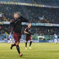 Sampdoria-Milan 0-2: Cutrone entra e trascina i rossoneri ai quarti