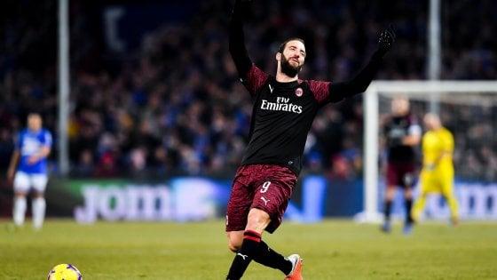 """Milan, la Supercoppa per tenersi stretto Higuain. Gattuso: """"Gol alla Juve cambierebbe tutto"""""""