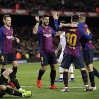 Spagna, Messi segna il gol 400 in Liga: Barcellona sempre più leader