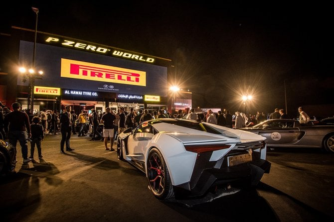 Nuova boutique Pirelli a Dubai. Ed è subito festa