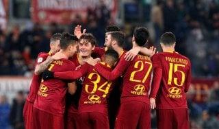 Coppa Italia; Roma-Entella 4-0: super Schick, giallorossi ai quarti