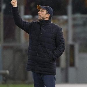 """Roma, Di Francesco: """"Bravo Schick ma doveva segnare più gol..."""""""