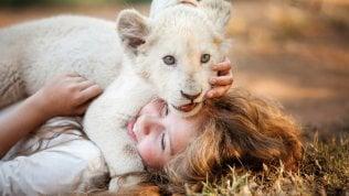 Sul set e senza effetti speciali la storia di un leone (vero) e di una bambina che sono diventati amici