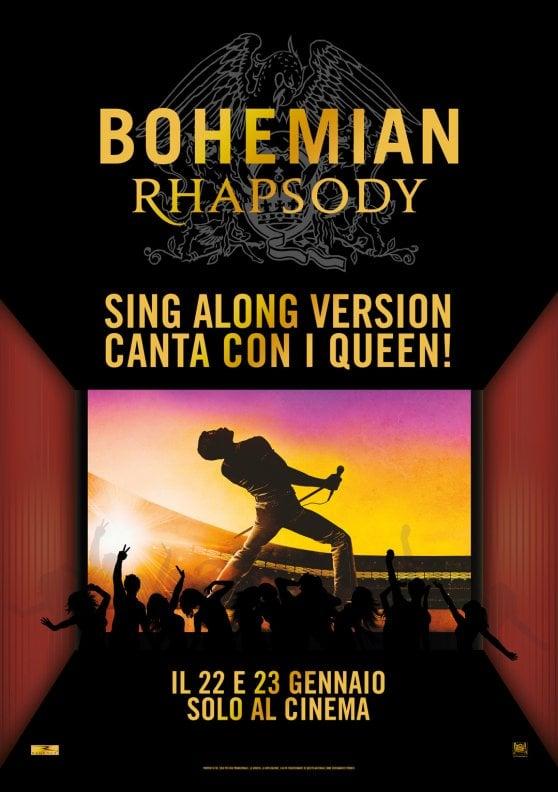 'Bohemian Rhapsody' versione karaoke, il 22 e 23 gennaio anche in Italia
