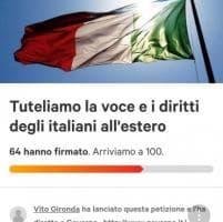 Diritto rappresentanza, la petizione su change.org degli intellettuali italiani all'estero