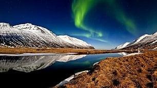 Aurora boreale con rischio