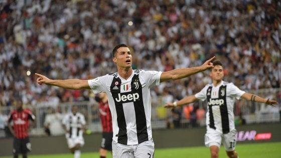 Juventus-Milan 1-0: il segno di Ronaldo, Supercoppa ai bianconeri