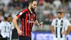 Milan, l'addio amaro di Higuain. Va al Chelsea, è questione di ore