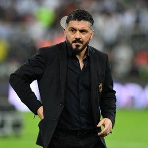 """Milan, Gattuso squalificato: """"Insulti ad arbitro in attesa della premiazione"""""""