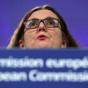La commissaria europea al Commercio, Cecilia Malmstroem