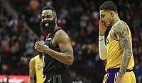 Harden e Gordon schiantano i Lakers, beffa per Houston