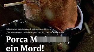 Giallini e la bestemmia di 'Rocco Schiavone': gaffe del magazine tedesco che annuncia la serie tv