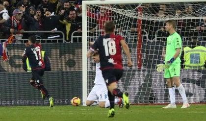 Di Lorenzo e Zajc illudono l'Empoli Ma Farias salva il Cagliari al 91': 2-2
