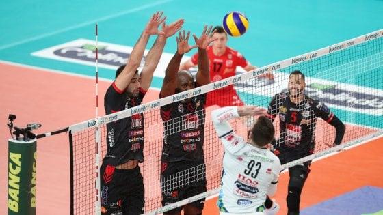 Volley, Superlega: Trento cede con Civitanova, Perugia si riprende la vetta