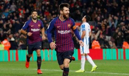 Messi salva il Barcellona:  il Leganes è battuto 3-1