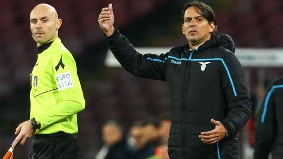 Lazio, Inzaghi: ''Risultato giusto, ma l'espulsione di Acerbi non c'era''