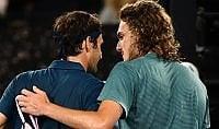 Federer s'inchina a Tsitsipas, fuori anche Sharapova