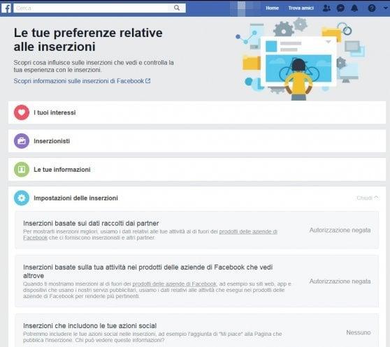 Facebook: il 74% degli utenti non sa che il social traccia le preferenze