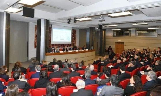 Un momento della presentazione dello studio di Confindustria Energia a Roma presso l'Auditorium Veneto