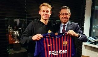 Mercato, colpo Barcellona: preso de Jong dall'Ajax per 86 milioni