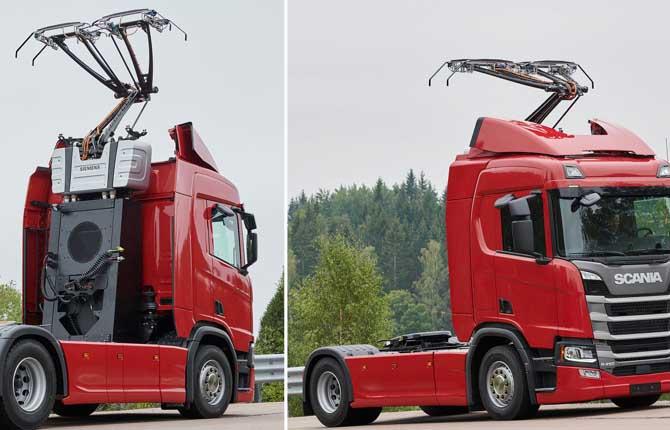 Flotta Di Camion Per Le Autostrade Elettrificate In Germania