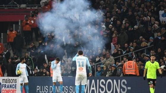 Francia, Marsiglia: la gara con il Lille sospesa 20' per lancio di petardi