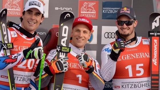 Sci, Cdm: Paris terzo nel SuperG a Kitzbuehel