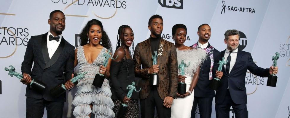 'Black Panther' miglior cast ai Sag Awards. Sorpresa Emily Blunt