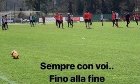 """Roma, Totti sta con la squadra: """"Con voi fino alla fine"""""""