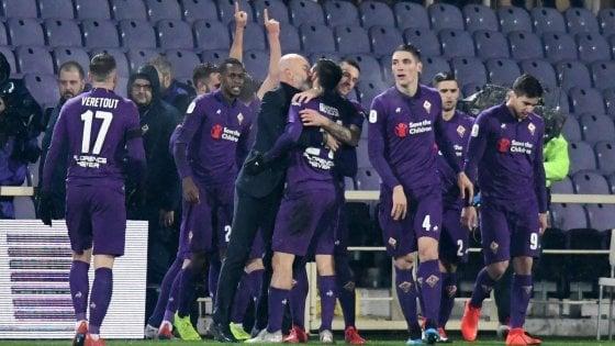 Coppa Italia, Fiorentina-Roma 7-1: tripletta di Chiesa, giallorossi umiliati
