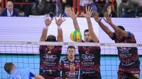Volley, Champions: Perugia non sbaglia un colpo, 3-0 al Tours
