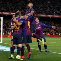 Spagna, Coppa del Re: rimonta show del Barcellona, 6-1 al Siviglia